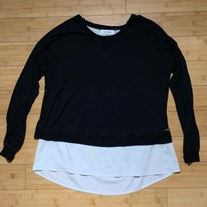 Calvin Klein size Small black 2fer layered top
